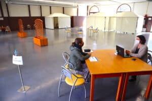COVID-19, UN CENTRE DE VACCINATION À GARLIN
