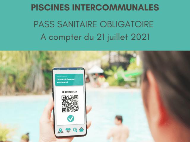 Pass sanitaire obligatoire pour la piscine intercommunale
