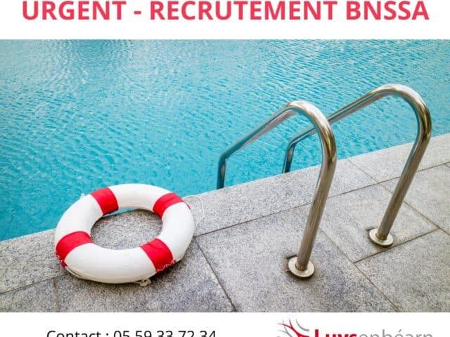 OFFRE D'EMPLOI / BNSSA Surveillant(e) de Baignade
