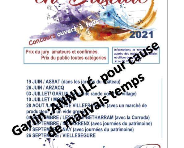 Peindre en Bastide 2021 : ANNULÉ pour cause Météo