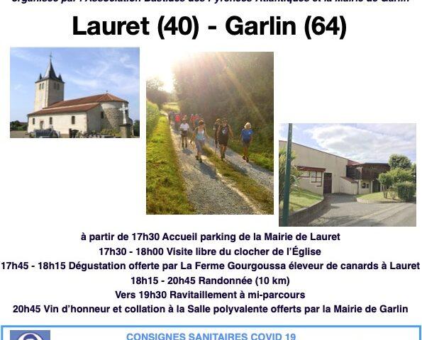 La rando-bastides « Lauret- Garlin » ce jeudi 12 août